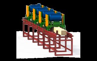 Станок для профилирования бруса фрезерный Алтай-004