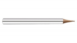 Микрофреза спиральная 35° двухзаходная с покрытием AlTiN DJTOL KS2MLX0.9