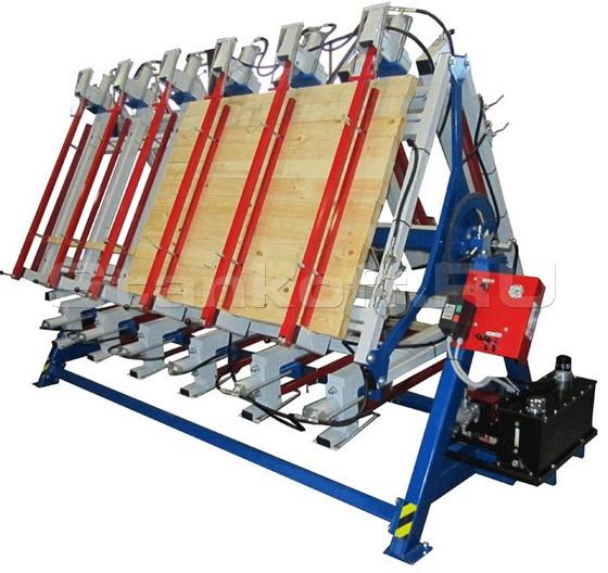 Пресс для массового производства клееного щита и бруса РГ3-3000-1250-50