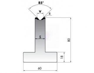 Матрица для гибки металла T80-08-85/C