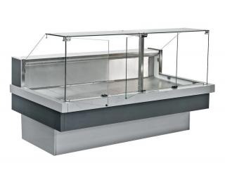 Средне-низкотемпературная витрина под выносное холодоснабжение NEVA slim QV 250 TM