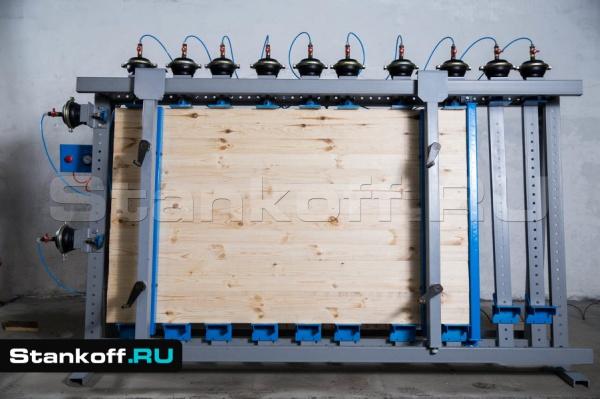 Пневматическая вайма для каркасных конструкций и мебельных щитов ВП17-3000Б-2 (двусторонняя)