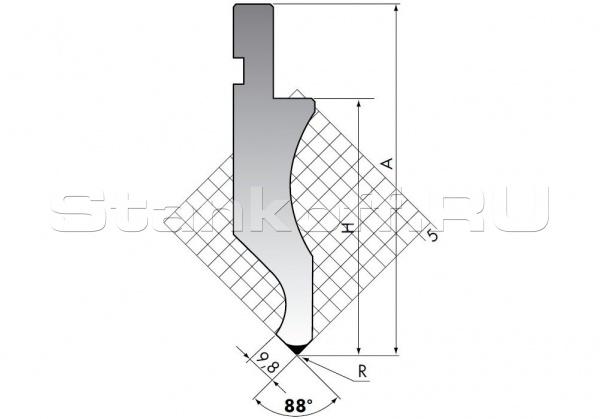 Пуансон для листогибочных прессов D.116-88-R3/C