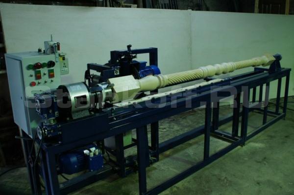Станок токарно-фрезерный с копиром для производства витых каннелюр ТФС 1550М с доп секцией