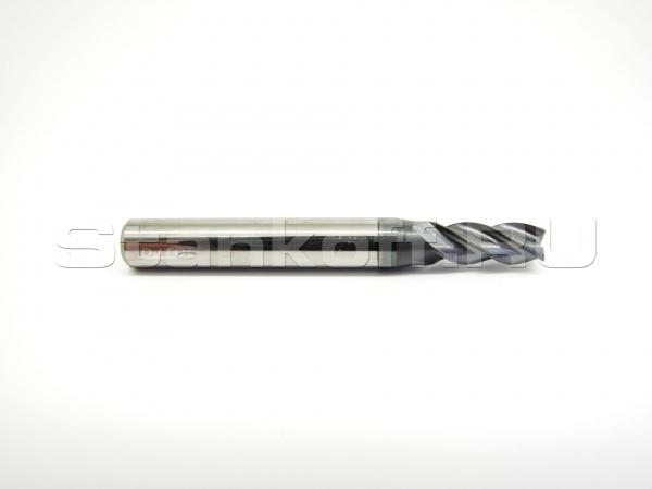 Фреза спиральная четырехзаходная по металлу с покрытием AlTiN AS4LX10