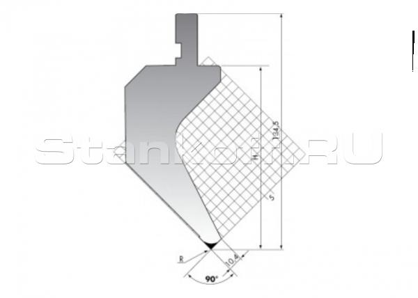 Пуансон для листогиба PK.135-90-R025/F