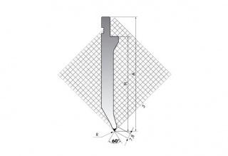 Пуансон для листогибочных прессов TOP.175-60-R08/FB/R