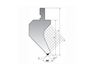 Пуансон для листогибочных прессов P.120-88-R3/C/R