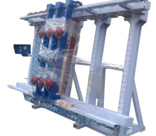 Пневматический пресс для бруса 1П-6000