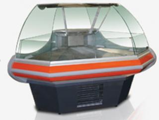 Угловая витрина NEVA slim CV IC90 TN под выносное холодоснабжение