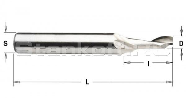 Спиральная фреза Z1 по алюминию HSSL1LX8420 (4*20*8*100)