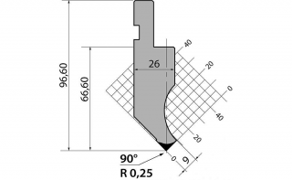 Пуансон для листогиба PK.97.90.R025.795s