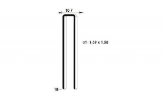 Скоба каркасная 155/18 (L18)