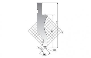 Пуансон для листогиба DK.116-90-R08/F