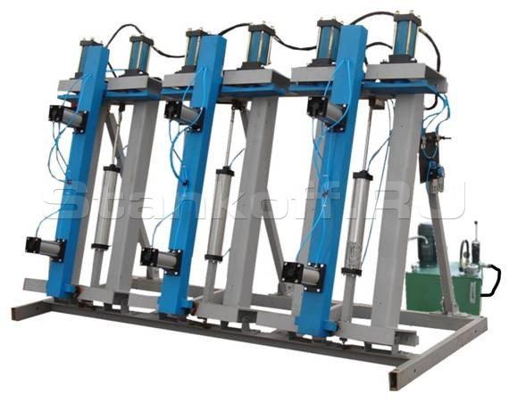 Пресс гидравлический вертикальный для склейки бруса и щита SL250-6VSP