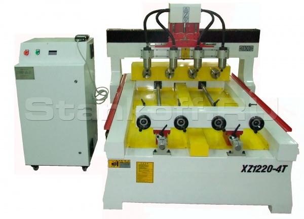 Токарно-фрезерный 4-х шпиндельный станок с ЧПУ LTT-XZ1220-4T
