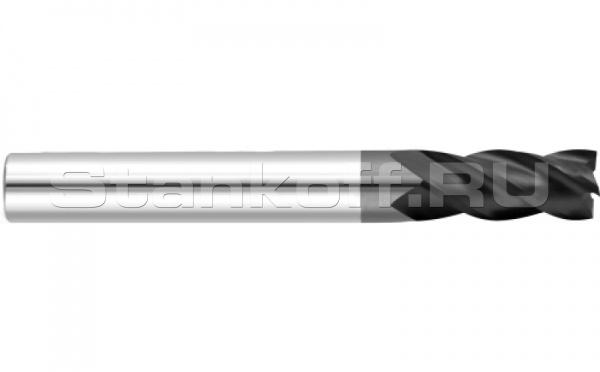 Фреза спиральная удлиненная четырехзаходная с покрытием AlTiN DJTOL AS4LX14L