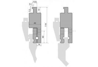 Адаптер пуансона INT100-A (AMERICAN)
