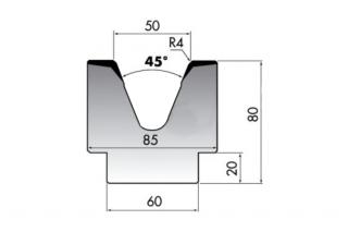 Матрица для гибки листового металла M80-45-50