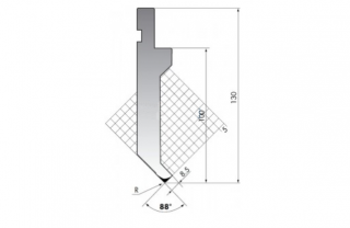 Пуансон для листогиба P.130-88-R025/F/R