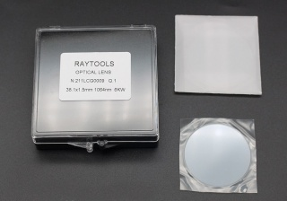 Оригинальное верхнее защитное стекло для коллиматора 38 x 1,5 мм Raytools BM114 IG0008 для оптоволоконных лазеров