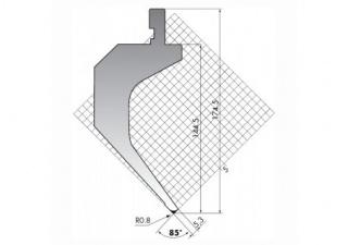 Пуансон для листогибочных прессов TOP.175-85-R08-S/R/T