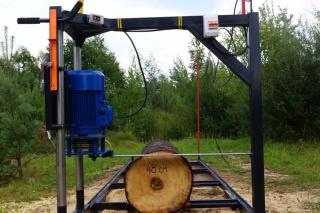 Пилорама электрическая мобильная МП большой диаметр