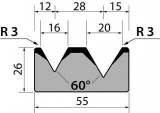 Матрицы R1 классические двухручьевые серии M26.60.05
