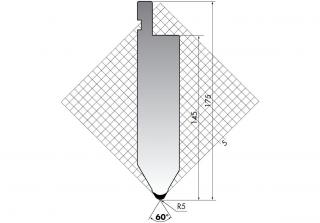 Пуансоны серии TOP.175.60.R5