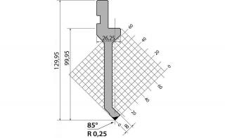 Пуансоны R1 серии P.130.85.R025