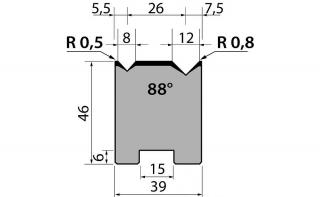 Матрицы R1 двухручьевые быстросъемные классические серии 46.13