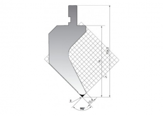 Пуансоны гусевидного типа серия PK.135.90.R08