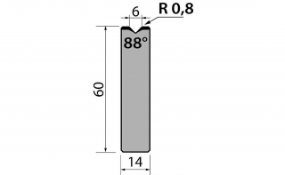 Матрицы R1 одноручьевые быстросъемные серии AMR60.06.88