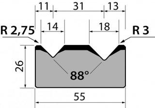 Матрицы R1 классические двухручьевые серии M26.88.05