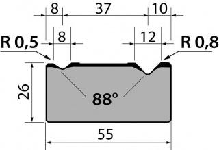 Матрицы R1 классические двухручьевые серии M26.88.02