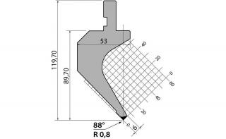 Пуансоны R1 классические серии PS.120.88.R08