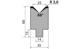 Матрицы R1 одноручьевые быстросъемные серии AMR60.25.88