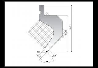 Пуансоны для листогиба серии PR.135.88.R08