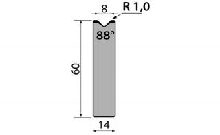 Матрицы R1 одноручьевые быстросъемные серии AMR60.08.88