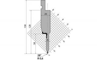 Пуансоны R1 серии TOP.SP.134.28.8