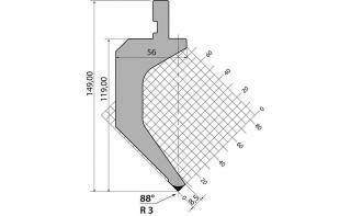 Пуансоны R1 классические серии P.150.88.R3