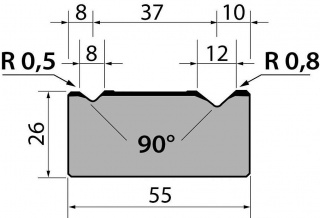 Матрицы R1 классические двухручьевые серии M26.90.02