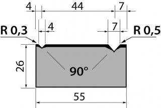Матрицы классические двухручьевые серии M26.90.03
