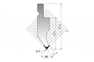 Пуансоны прямого типа серии PK.97.90.R08/R025
