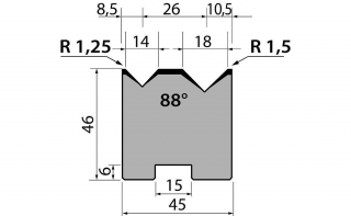 Матрицы R1 двухручьевые быстросъемные классические серии 46.15