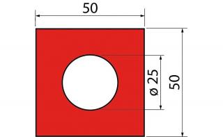 Полиуретановые вставки серии GMF 50X50X25
