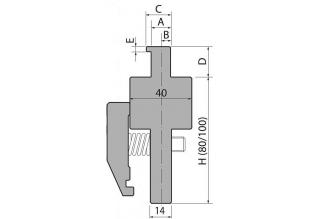 Адаптеры пуансона серии INT80-100