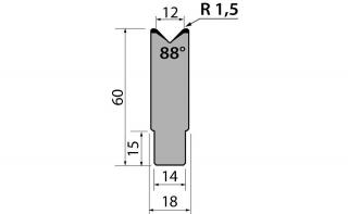 Матрицы R1 одноручьевые быстросъемные серии AMR60.12.88