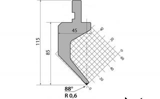 Пуансоны R1 классические серии P.115.88.R06
