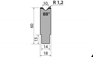 Матрицы R1 одноручьевые быстросъемные серии AMR60.10.88